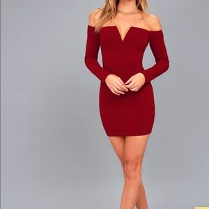 NWT LULUS Of The Shoulder Bodycon Dress Size M